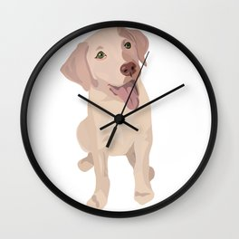 Golden (Lab) Girl Wall Clock