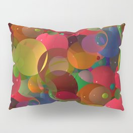 abstract bubbles -1- Pillow Sham