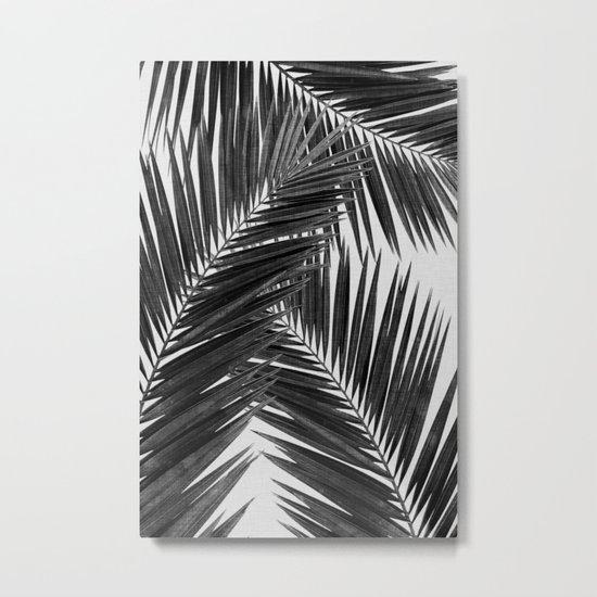 Palm Leaf Black & White III Metal Print