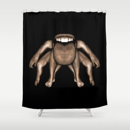 Fantasty Dark Alien Monster Shower Curtain