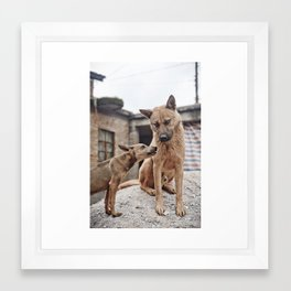 """Pssst, Dad"" Framed Art Print"