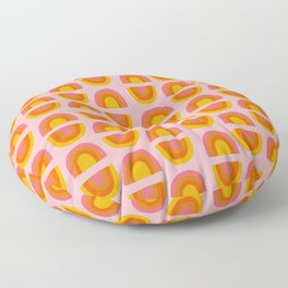 Vintage Rainbow Print Floor Pillow