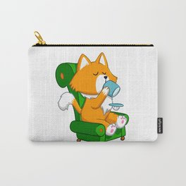 Cat drinking tea Carry-All Pouch