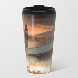 Fisherman on Sunset Coast Travel Mug