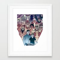 dungeons and dragons Framed Art Prints featuring Dungeons & Dragons by Steven P Hughes