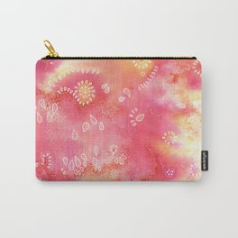 Water colors 3 - Pink and yellow corals Carry-All Pouch