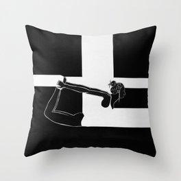 BW.LYING Throw Pillow