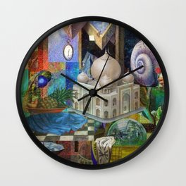 In the Name of the Rose Wall Clock