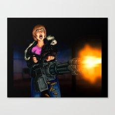 gatling girl Canvas Print