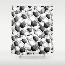 Football pattern Shower Curtain