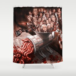 The Meat Grinder Shower Curtain