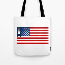 4th of July Beer Drinking Party Flag For Men Women Tote Bag
