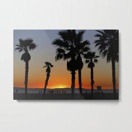 Sunset Palms Huntington Beach  1/15/14 Metal Print