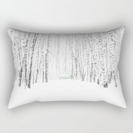 White Winter Day Rectangular Pillow