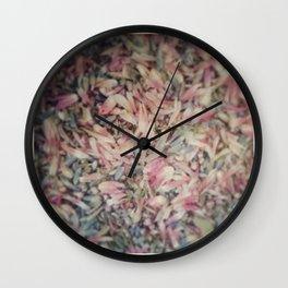 Mixed petals Wall Clock