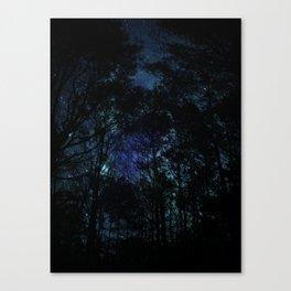Galaxy Forest Canvas Print