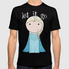 Elsa: Frozen  Mens Fitted Tee Black MEDIUM