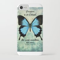 scripture iPhone & iPod Cases featuring New Creation scripture print by Kristen Ramsey