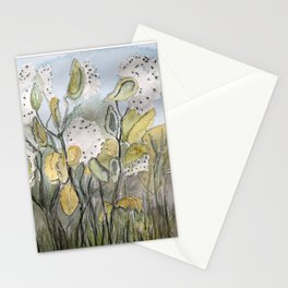 Milkweed Watercolor Stationery Cards