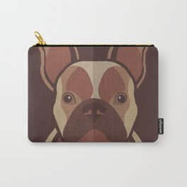 Toby - French Bulldog Pet Design in Warm and Modern Colors for Pet Lovers Carry-All Pouch