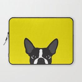Boston Terrier Yellow Laptop Sleeve