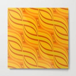Retro Pattern 3 orange Metal Print