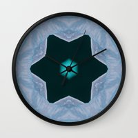 frozen Wall Clocks featuring Frozen by Deborah Janke