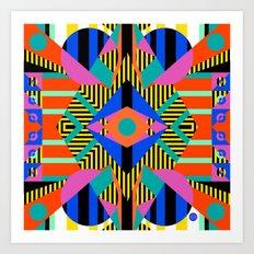 time warp test Art Print