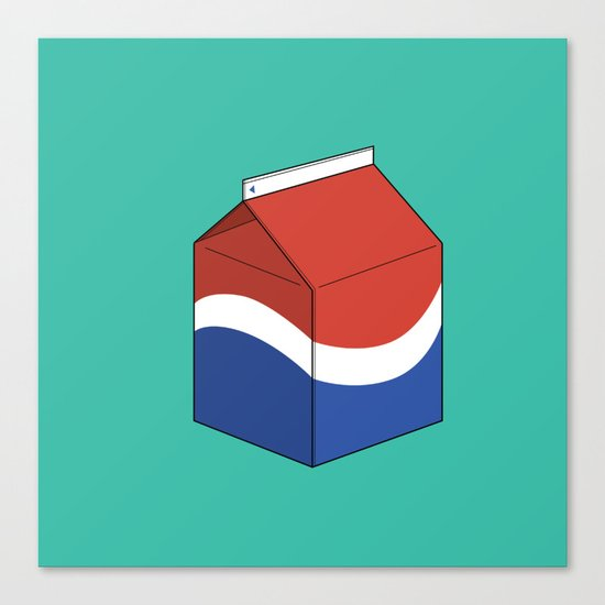 Pepsi in a box Canvas Print