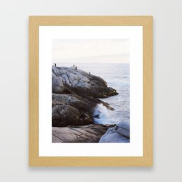 Wave Break, Peggy's Cove Framed Art Print