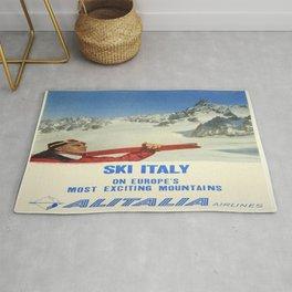 Vintage poster - Ski Italy Rug