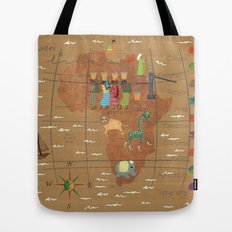 Africa Map Tote Bag