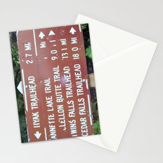Trail Miles Stationery Cards