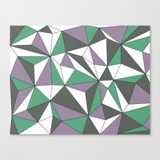 Geo - purple, green, gray and white. Canvas Print