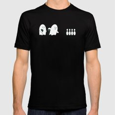 Bowling Ghost X-LARGE Mens Fitted Tee Black