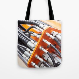 Hoses of hydraulic machine Tote Bag