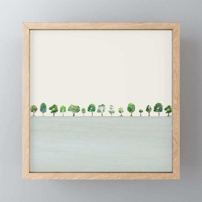 A Row Of Trees Framed Mini Art Print