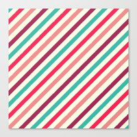 striped Canvas Prints featuring Striped. by Tayler Willcox