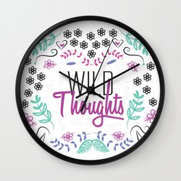 wild Thoughts Floral Wall Clock