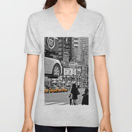 NYC - Yellow Cabs - Times Square Unisex V-Neck