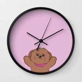Hug poodle Wall Clock