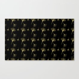 Ginkgo Black Gold Canvas Print