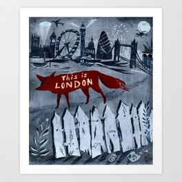 Locals/Only - London Art Print