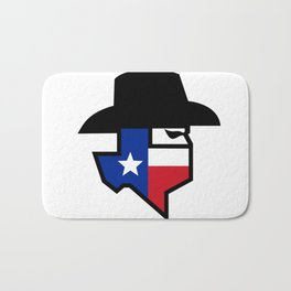 Bandit Texas Flag Icon Bath Mat