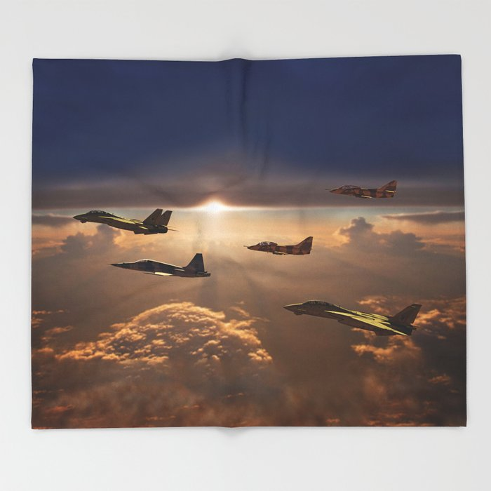 The Flight Home Throw Blanket