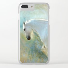 Angelic Horse Clear iPhone Case