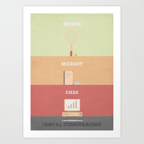 The Royal Tenenbaums - minimal poster Art Print
