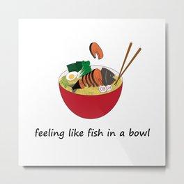 Fish in a bowl Metal Print