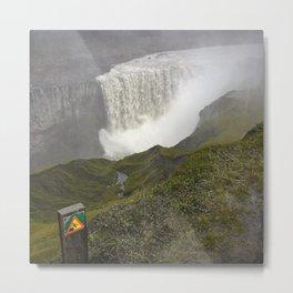 Dettifoss Waterfall in Iceland (1) Metal Print