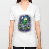 the neighbourhood V-neck T-shirts featuring Friendly Neighbourhood Alien by Billy Allison